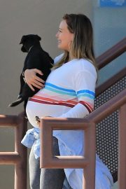 Pregnant Hilary Duff Out with Her Dog in Studio City 2018/09/13 4