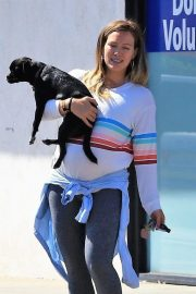 Pregnant Hilary Duff Out with Her Dog in Studio City 2018/09/13 6