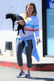 Pregnant Hilary Duff Out with Her Dog in Studio City 2018/09/13 8