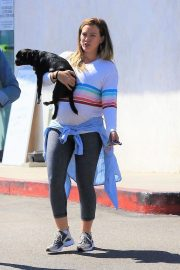 Pregnant Hilary Duff Out with Her Dog in Studio City 2018/09/13 9
