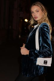 Romee Strijd Leaves Zadig & Voltaire Show at Paris Fashion Week 2018/09/29 1