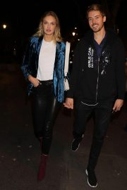 Romee Strijd Leaves Zadig & Voltaire Show at Paris Fashion Week 2018/09/29 2