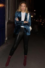 Romee Strijd Leaves Zadig & Voltaire Show at Paris Fashion Week 2018/09/29 6