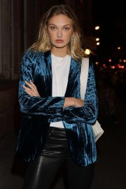 Romee Strijd Leaves Zadig & Voltaire Show at Paris Fashion Week 2018/09/29 7