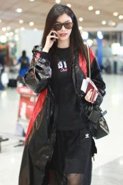 Sui He at Airport in Beijing 2018/09/04 1