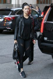 Adriana Lima Arrives at Her Hotel in New York 2018/10/12 7