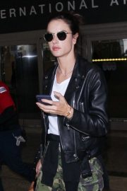 Alessandra Ambrosio at LAX Airport in Los Angeles 2018/10/03 2