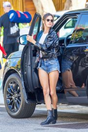 Alessandra Ambrosio in Denim Shorts Out and About in Los Angeles 2018/10/05 3