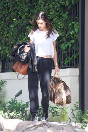 Alessandra Ambrosio Leaves Her House in Brentwood 2018/10/07 2