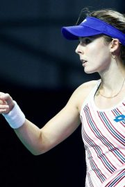 Alize Cornet at 2018 VTB Kremlin Cup International in Moscow 2018/10/16 6