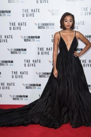 Amandla Stenberg at The Hate You Give Premiere at BFI London Film Festival 2018/10/20 5