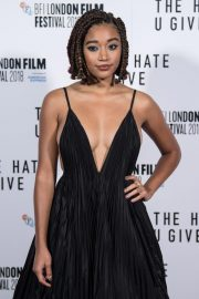 Amandla Stenberg at The Hate You Give Premiere at BFI London Film Festival 2018/10/20 6