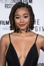 Amandla Stenberg at The Hate You Give Premiere at BFI London Film Festival 2018/10/20 13