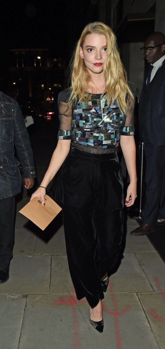 Anya Taylor-Joy Leaves BFI Party in London 2018/10/20 1