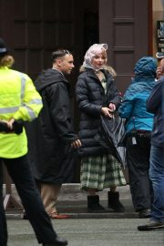 Anya Taylor-Joy on the Set of Peaky Blinders in Manchester 2018/10/12 6