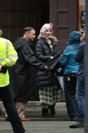 Anya Taylor-Joy on the Set of Peaky Blinders in Manchester 2018/10/12 7