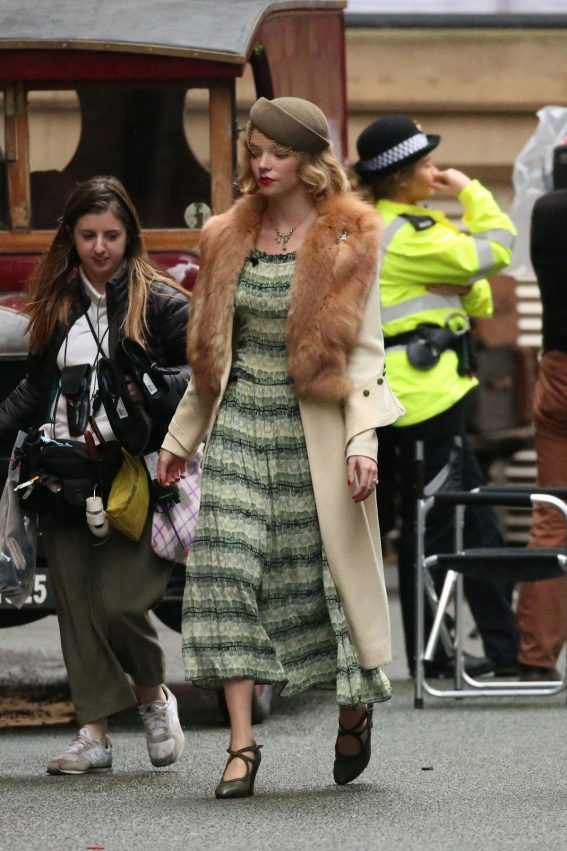 Anya Taylor-Joy on the Set of Peaky Blinders in Manchester 2018/10/13 1
