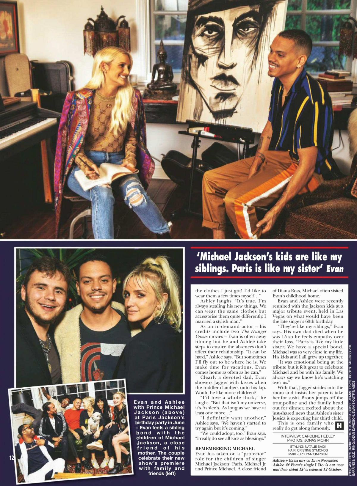 Ashlee Simpson and Evan Ross in Hello Magazine, UK October 2018 1
