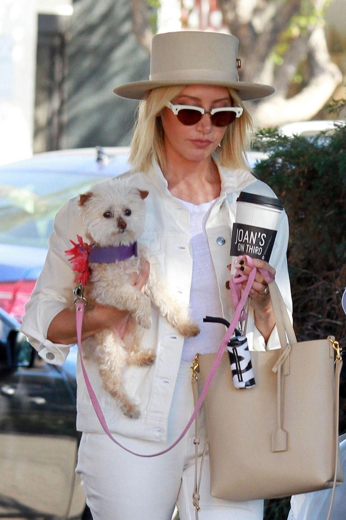 Ashley Tisdale Out with Her Dog in Studio City 2018/10/27 1