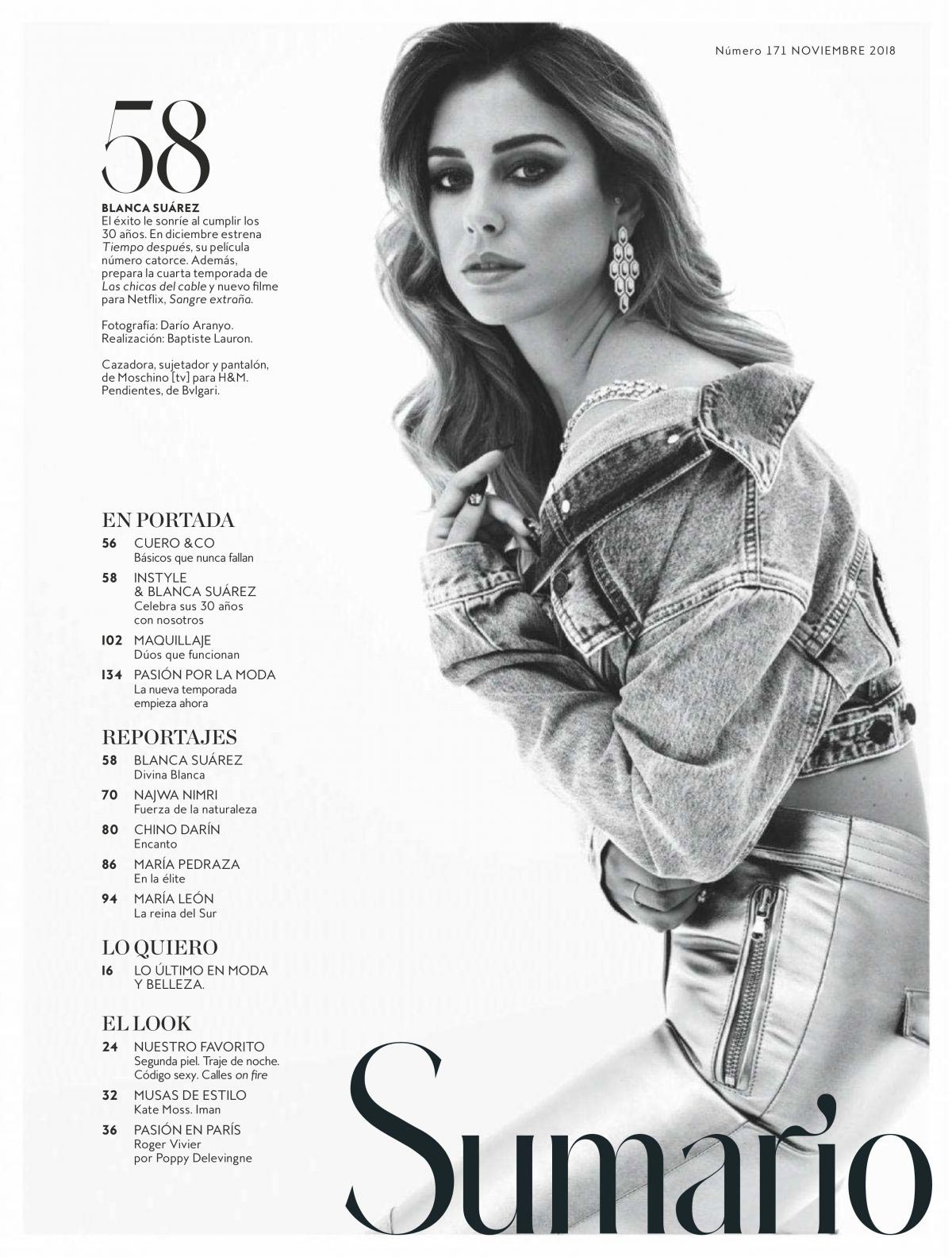 Blanca Suarez in Instyle Magazine, Spain November 2018 1