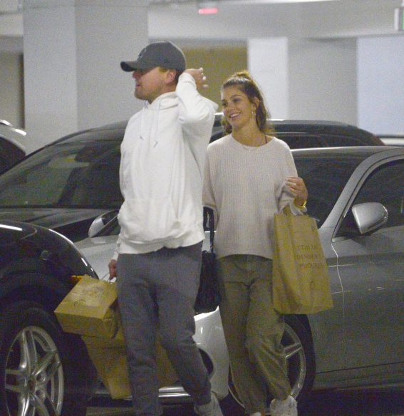 Camila Morrone and Leonardo DiCaprio Out in Century City 2018/10/16 1