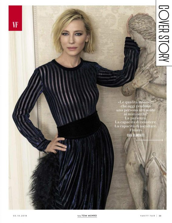 Cate Blanchett in Vanity Fair Magazine, Italy September 2018 1