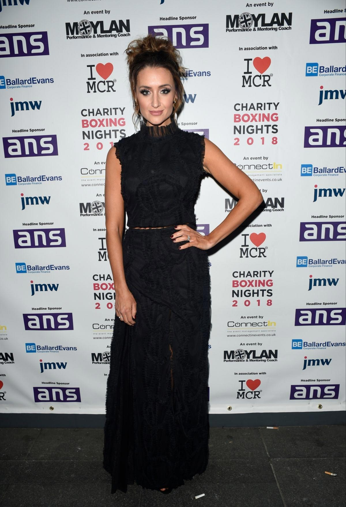 Catherine Tyldesley at Charity Boxing Nights Event in Manchester 2018/10/06 1