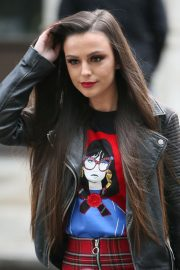 Cher Lloyd Promoting Her None of My Business Single at BBC Radio in London 2018/10/26 6
