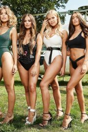 Chloe Meadows, Chloe Lewis, Courtney Green and Clelia Theodorou at Pool Party in Essex 2018/08/21 10