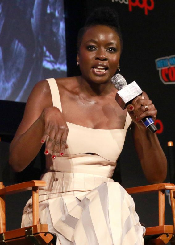 Danai Gurira at The Walking Dead Panel at New York Comic-con 2018/10/06 1