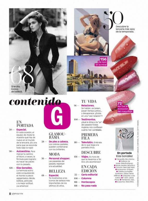 Eiza Gonzalez in Glamour Magazine, Mexico October 2018 1