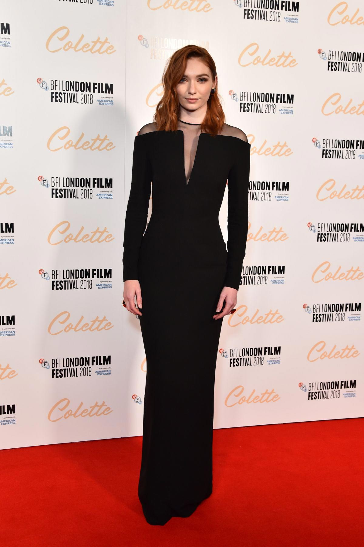 Eleanor Tomlinson at Colette Premiere at 2018 BFI London Film Festival 2018/10/11 1