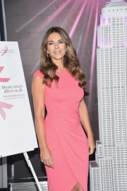 Elizabeth Hurley at Empire State Building in Honor of Estee Lauder's 2018 Breast Cancer Campaign 2018/10/01 1