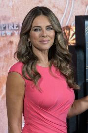 Elizabeth Hurley at Empire State Building in Honor of Estee Lauder's 2018 Breast Cancer Campaign 2018/10/01 2