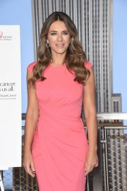 Elizabeth Hurley at Empire State Building in Honor of Estee Lauder's 2018 Breast Cancer Campaign 2018/10/01 4
