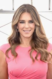 Elizabeth Hurley at Empire State Building in Honor of Estee Lauder's 2018 Breast Cancer Campaign 2018/10/01 6
