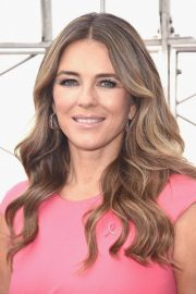 Elizabeth Hurley at Empire State Building in Honor of Estee Lauder's 2018 Breast Cancer Campaign 2018/10/01 8