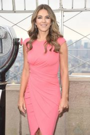 Elizabeth Hurley at Empire State Building in Honor of Estee Lauder's 2018 Breast Cancer Campaign 2018/10/01 9