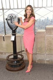 Elizabeth Hurley at Empire State Building in Honor of Estee Lauder's 2018 Breast Cancer Campaign 2018/10/01 10