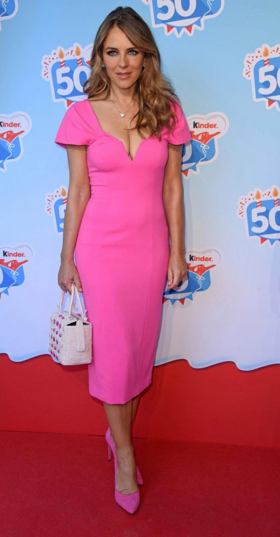 Elizabeth Hurley at Kinder Chocolate 50th Anniversary 2018/10/14 1
