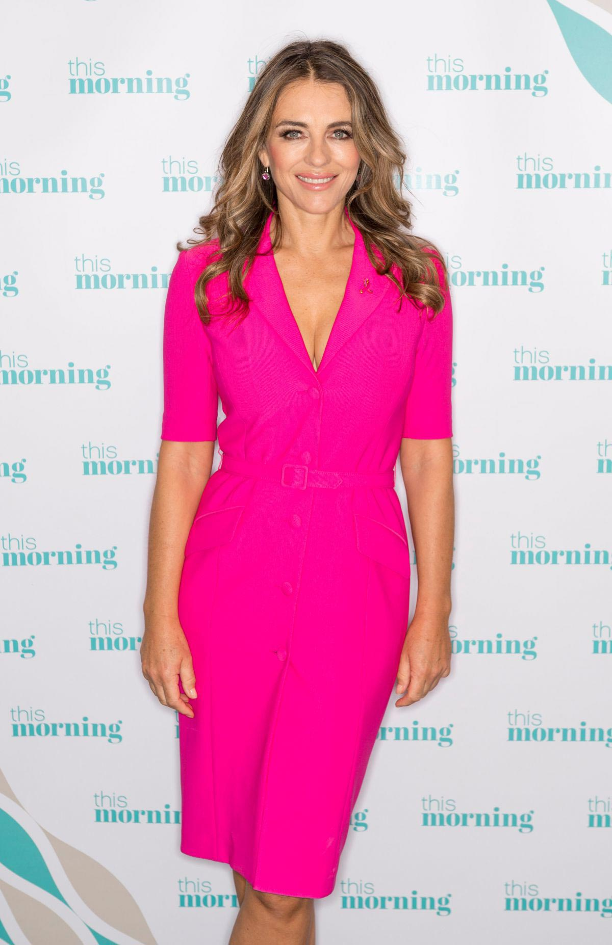 Elizabeth Hurley at This Morning Show in London 2018/10/09 1