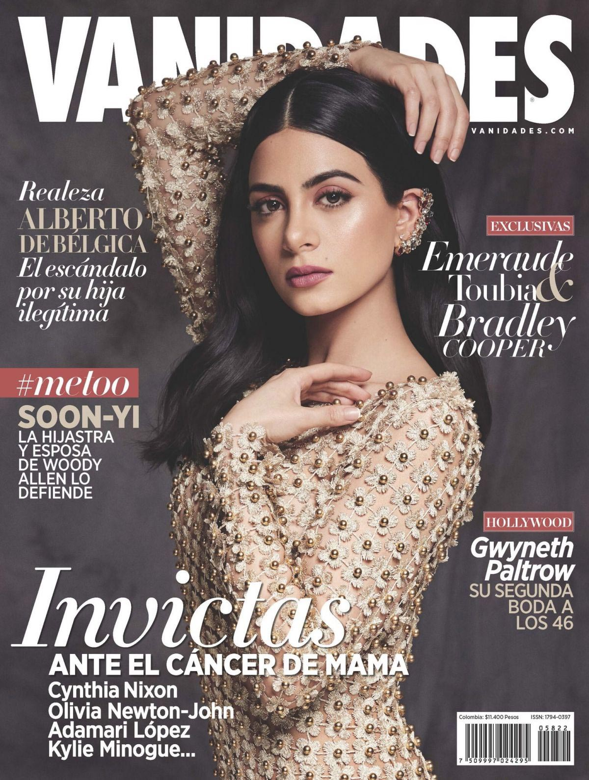 Emeraude Toubia on the Cover of Vanidades Magazine, Colombia November 2018 1