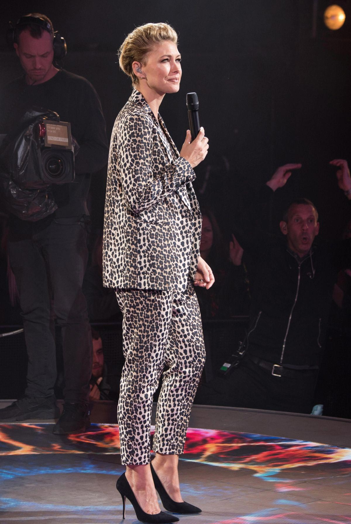 Emma Willis at Big Brother Eviction Night in Borehamwood 2018/10/12 1