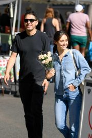 Emmy Rossum and Sam Esmail at Farmer's Market in Beverly Hills 2018/10/07 2