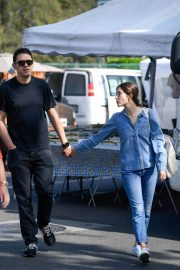 Emmy Rossum and Sam Esmail at Farmer's Market in Beverly Hills 2018/10/07 4