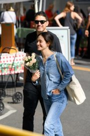 Emmy Rossum and Sam Esmail at Farmer's Market in Beverly Hills 2018/10/07 7