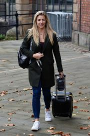 Gemma Atkinson Leaves Hits Radio in Manchester 2018/10/11 2