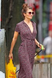Helena Christensen Out with Her Dog in New York 2018/10/03 3