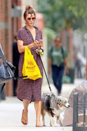 Helena Christensen Out with Her Dog in New York 2018/10/03 4
