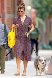 Helena Christensen Out with Her Dog in New York 2018/10/03 6